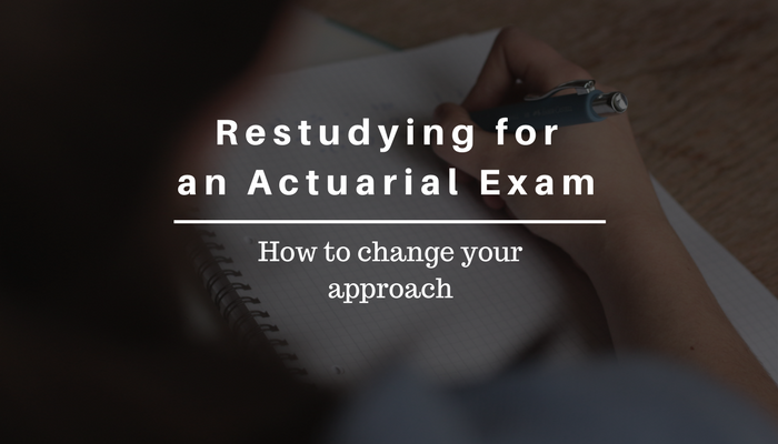 Restudying for an Actuarial Exam