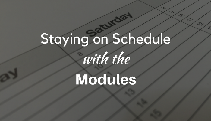 Staying on Schedule with the Modules