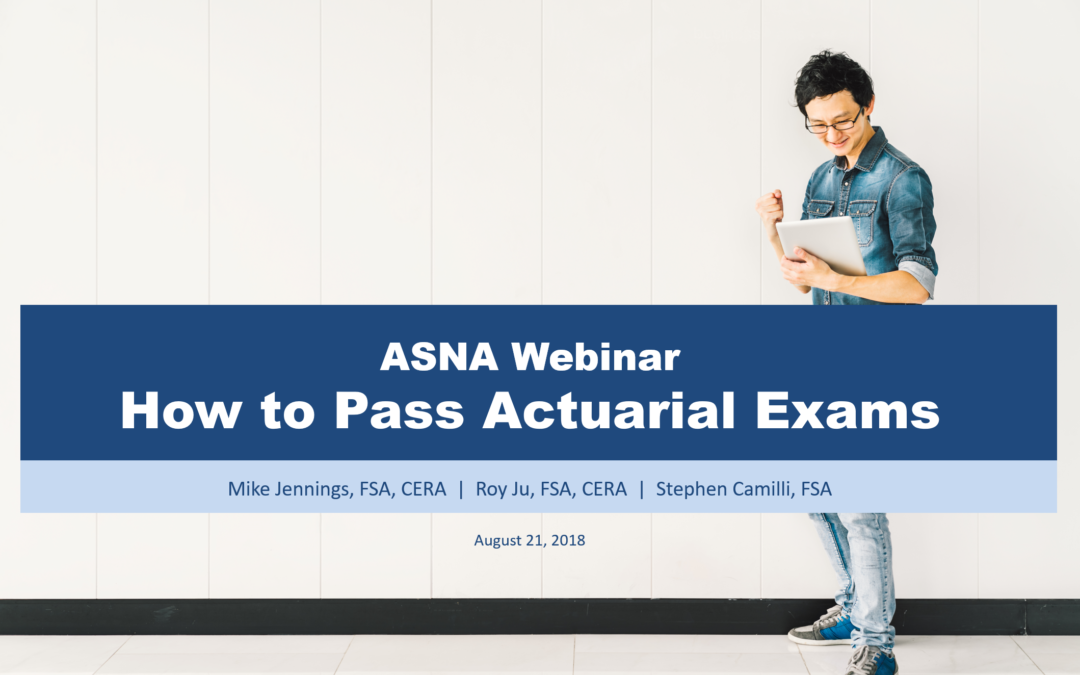 Webinar: How to Pass Actuarial Exams | Rethink Studying